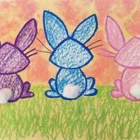 Bunny Sunset - Art for Kids, K-5 (KidCreate)