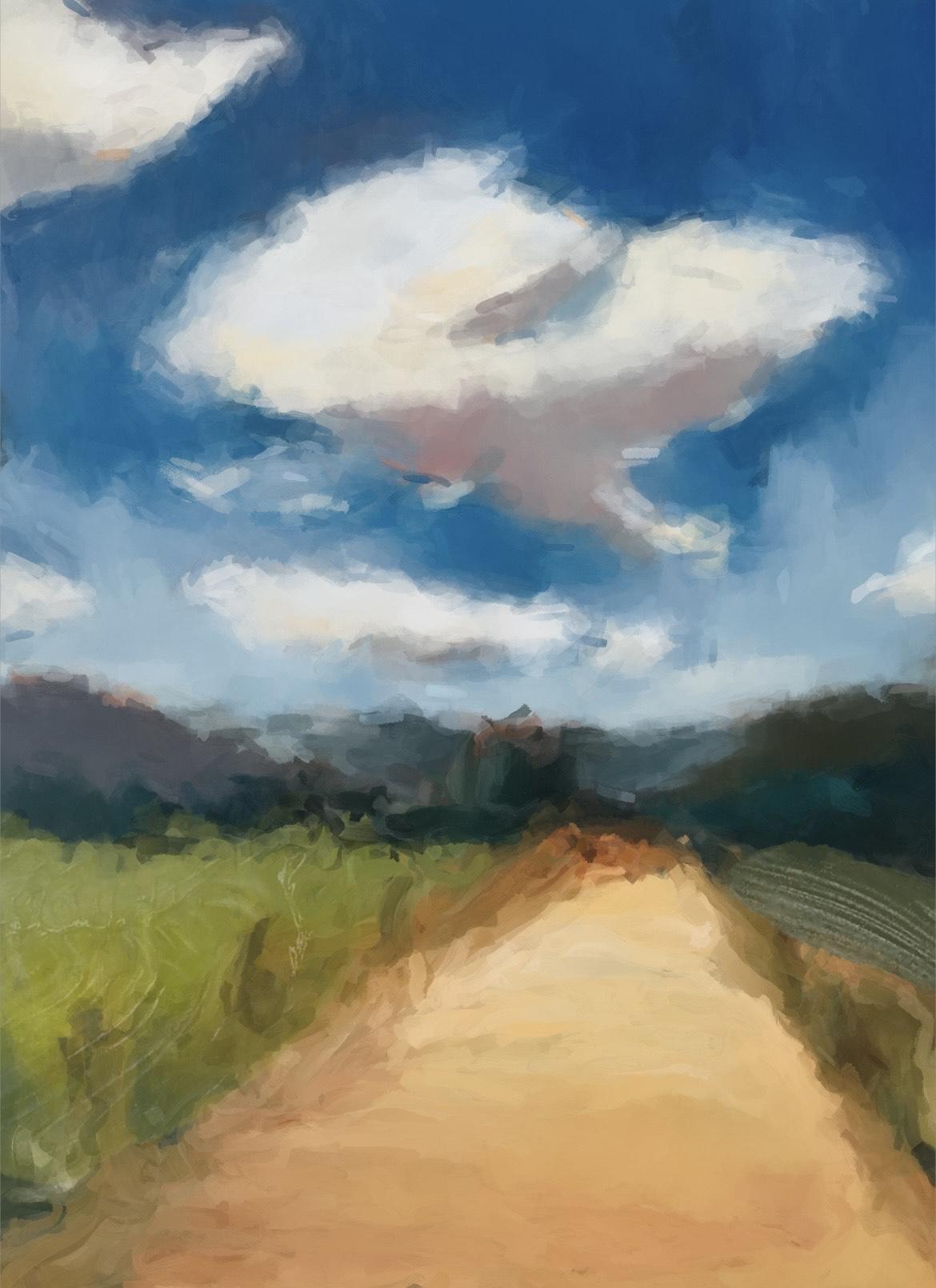 Summer Landscape in Watercolor