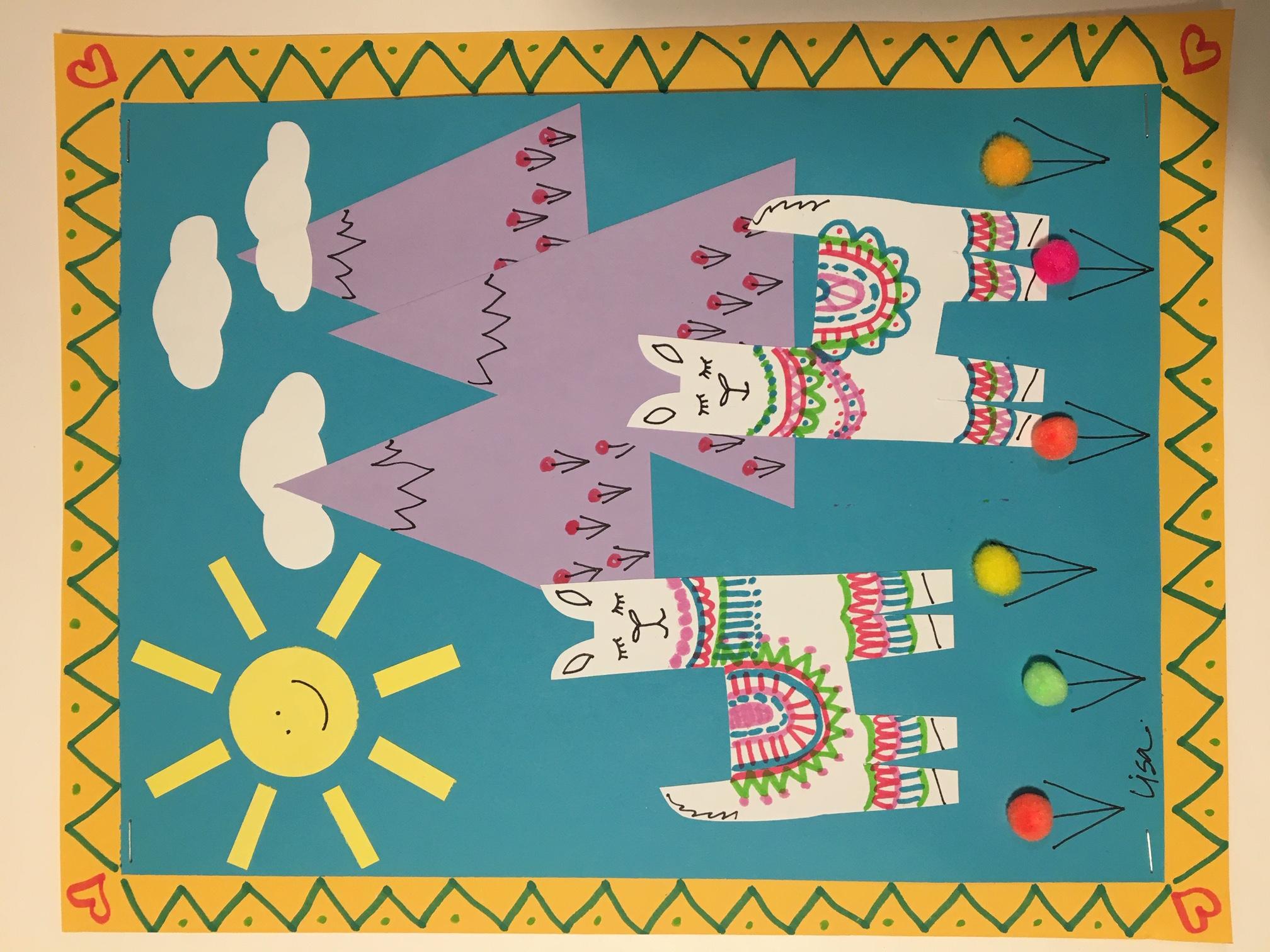 Llama Arpilleras - Art Class for Kids