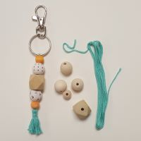 Virtual Let's Make Stuff: Wood Bead and Tassel Key Chain