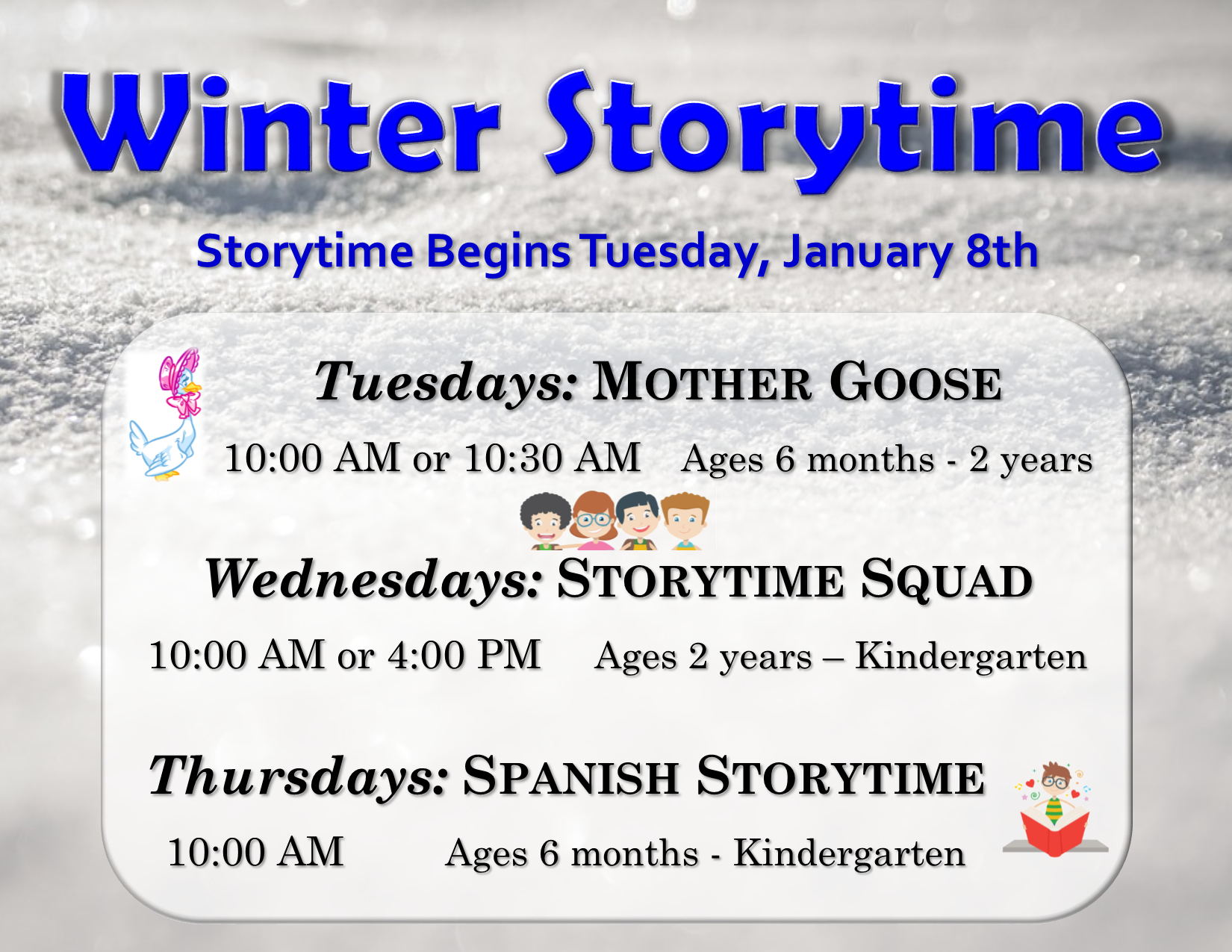 Mother Goose Morning - CANCELLED DUE TO INCLEMENT WEATHER