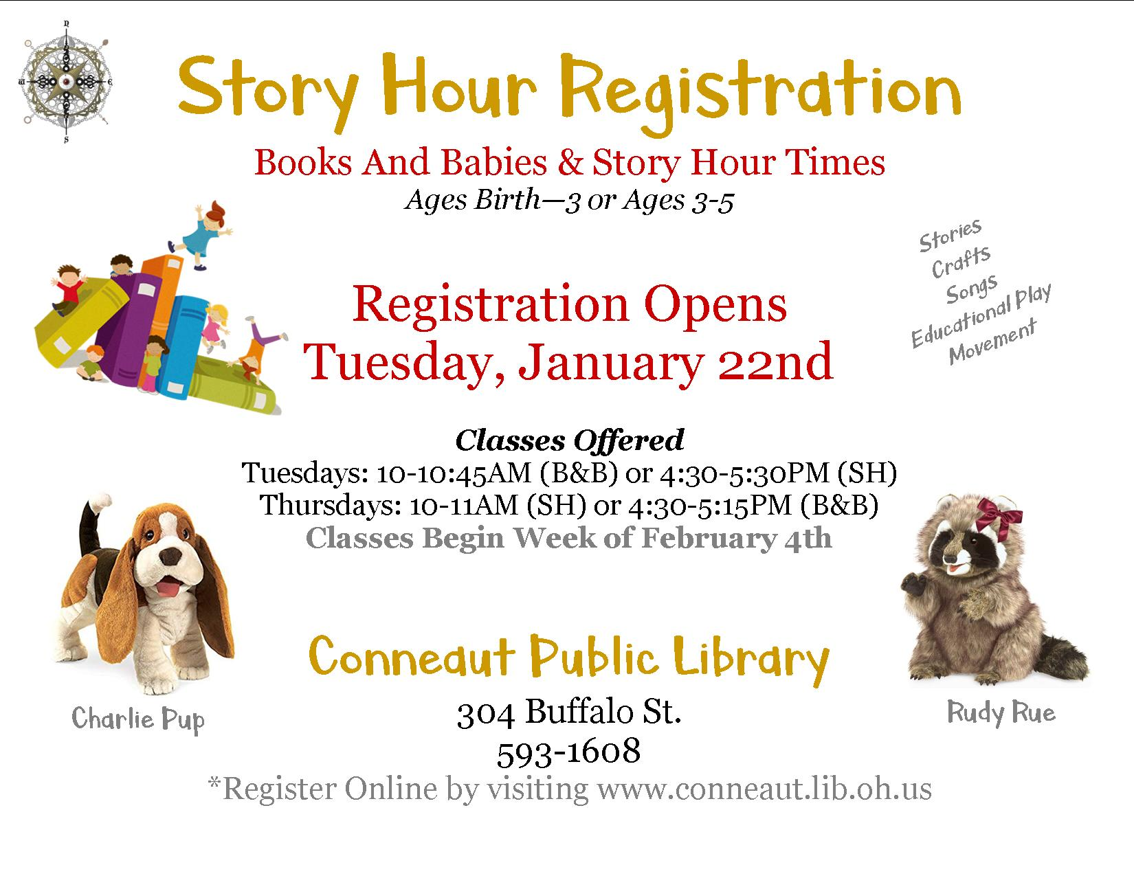 Story Hour (Ages 3-5)