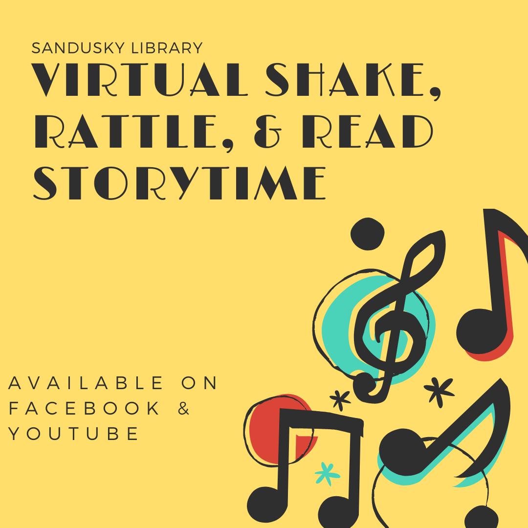 Sandusky Library Virtual Storytime - Shake, Rattle, & Read