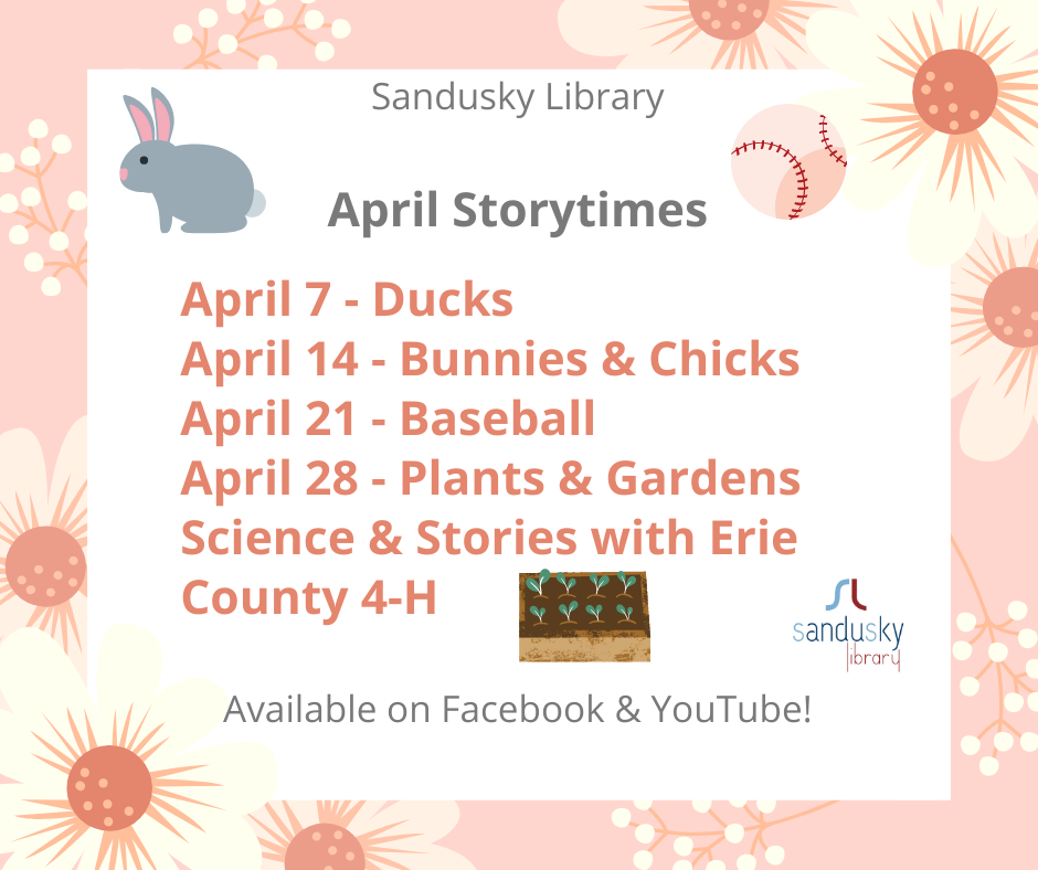 Sandusky Library Virtual Science and Stories - Plants and Gardens
