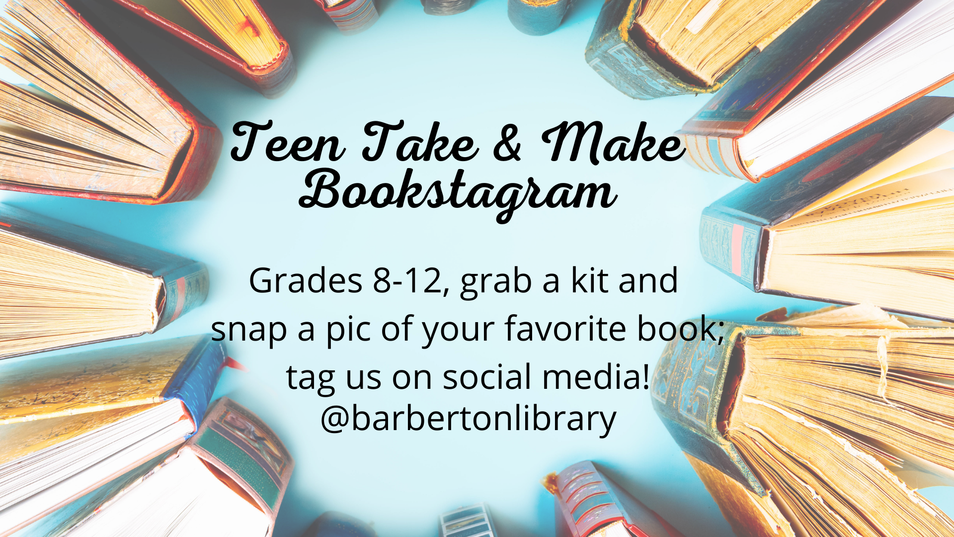 Teen Take & Make: Bookstagrams