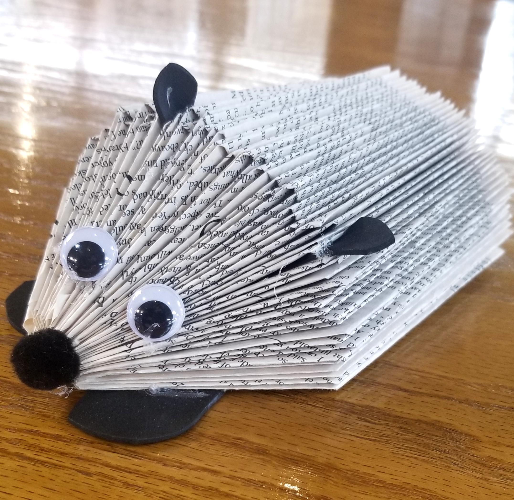 Virtual Craft Corner:  Book Folding- Hedgehog
