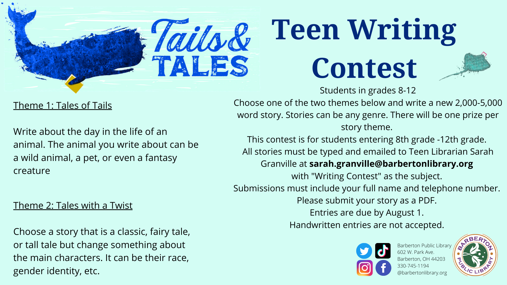 Teen Tails & Tales Writing Contest