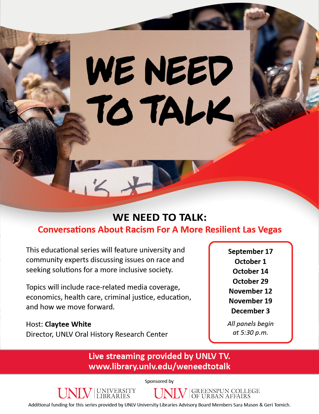 We Need To Talk About What's Next: Conversations About Racism For A More Resilient Las Vegas