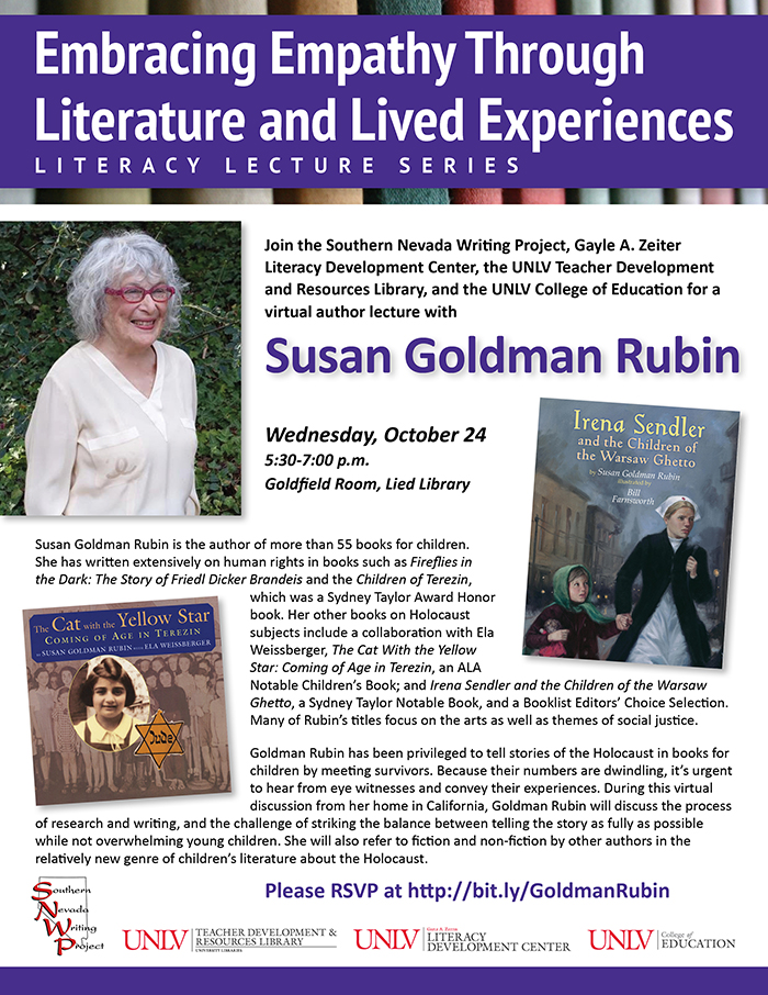 Embracing Empathy Through Literature and Lived Experiences Literacy Lecture Series: Susan Goldman Rubin