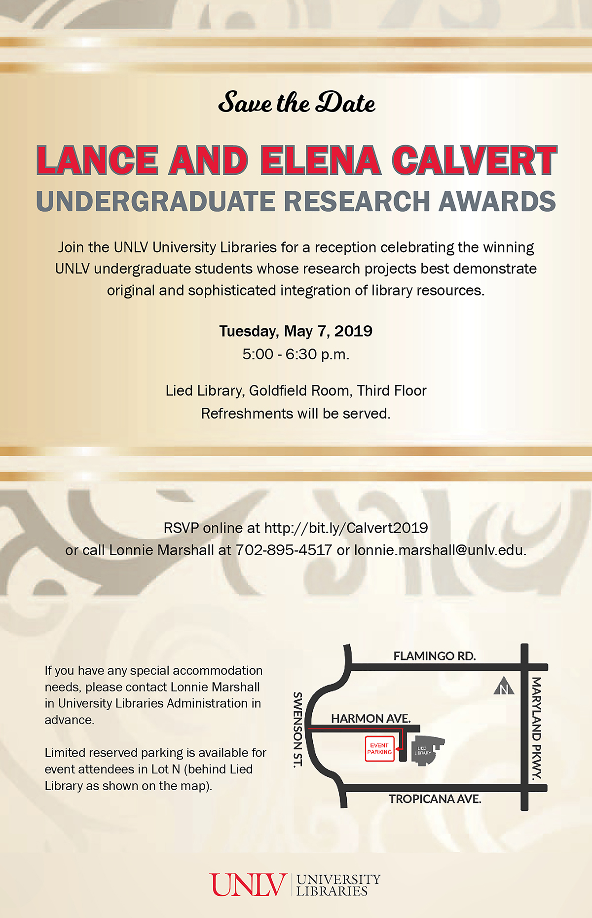 2019 Calvert Awards for Undergraduate Research