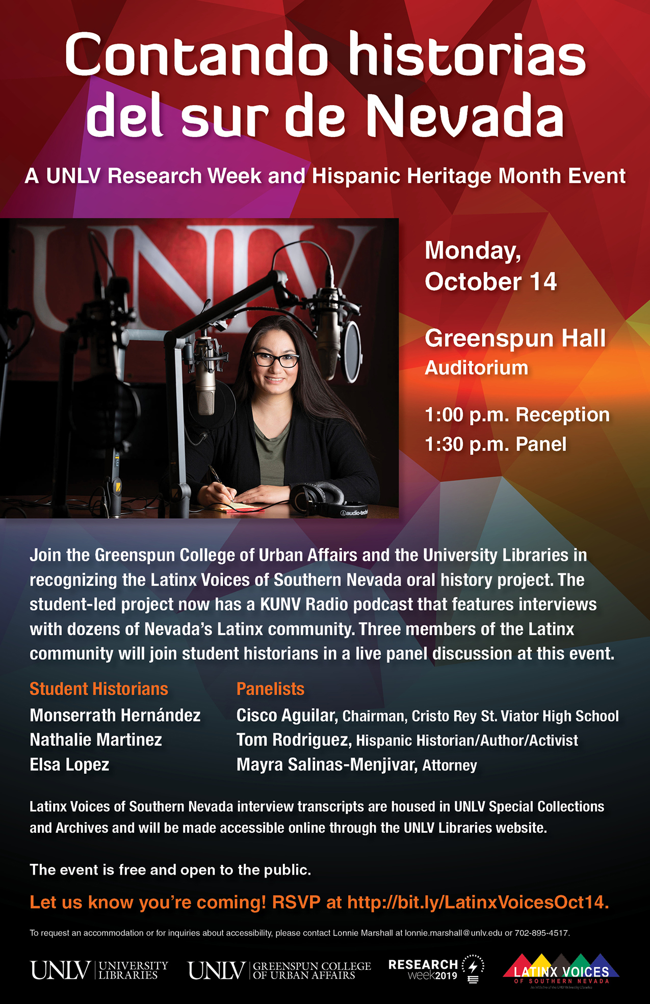 Contando historias del sur de Nevada: A UNLV Research Week and Hispanic Heritage Month Event
