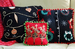Christmas sweater pillow