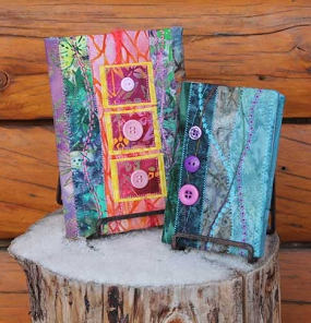 Quilt block party: quilted journal covers
