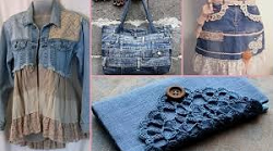 Quilt block party: recycled fabric, fibers & fashions!