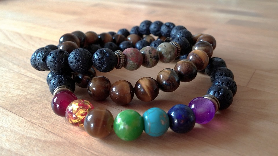 Build A Bracelet With Chakra And Lava Stones