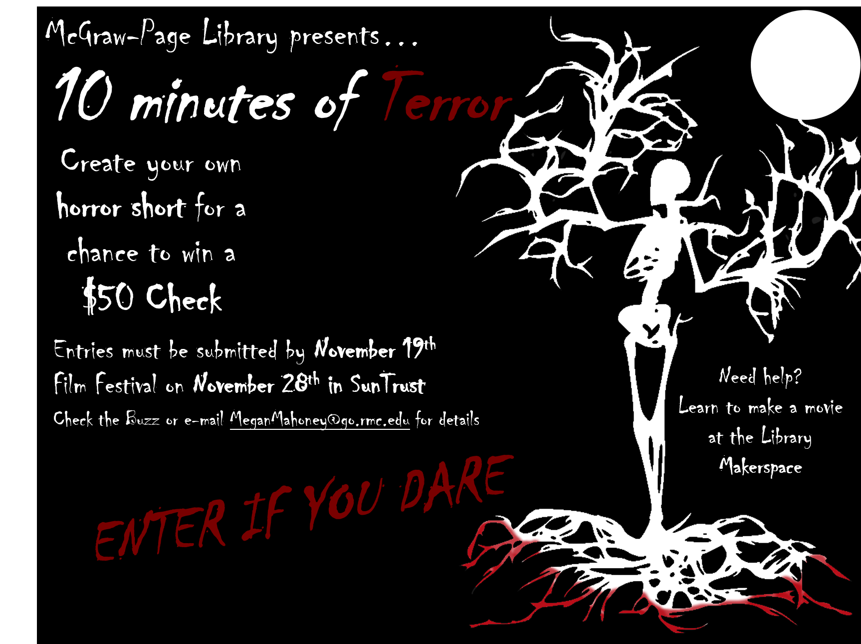 10 Minutes of Terror Short Film Competition and Festival