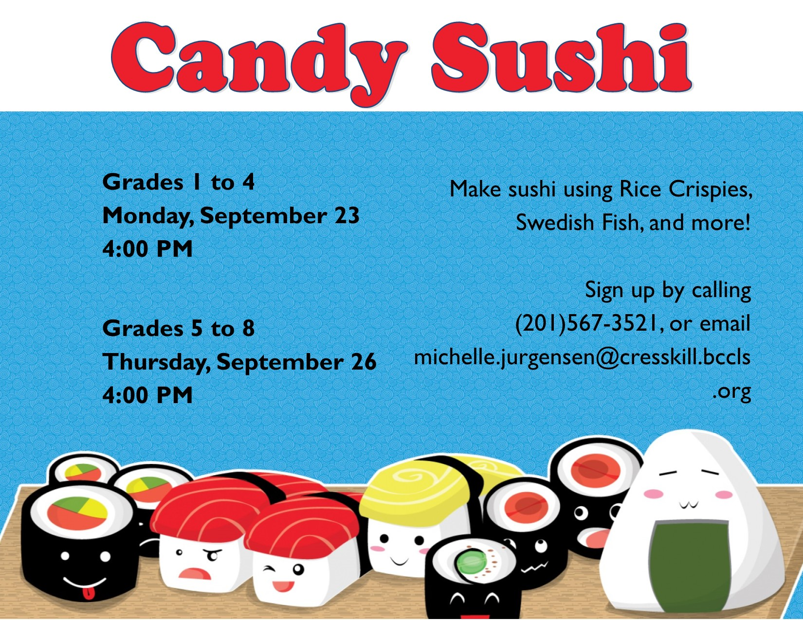 Candy Sushi: Grades 1-4