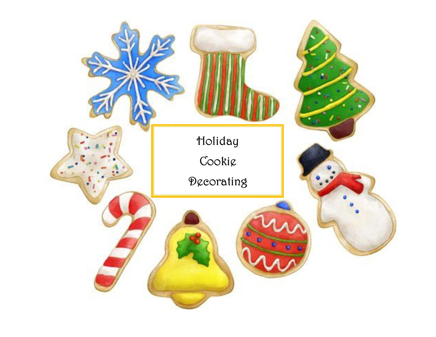 Family Holiday Cookie Decorating, All ages