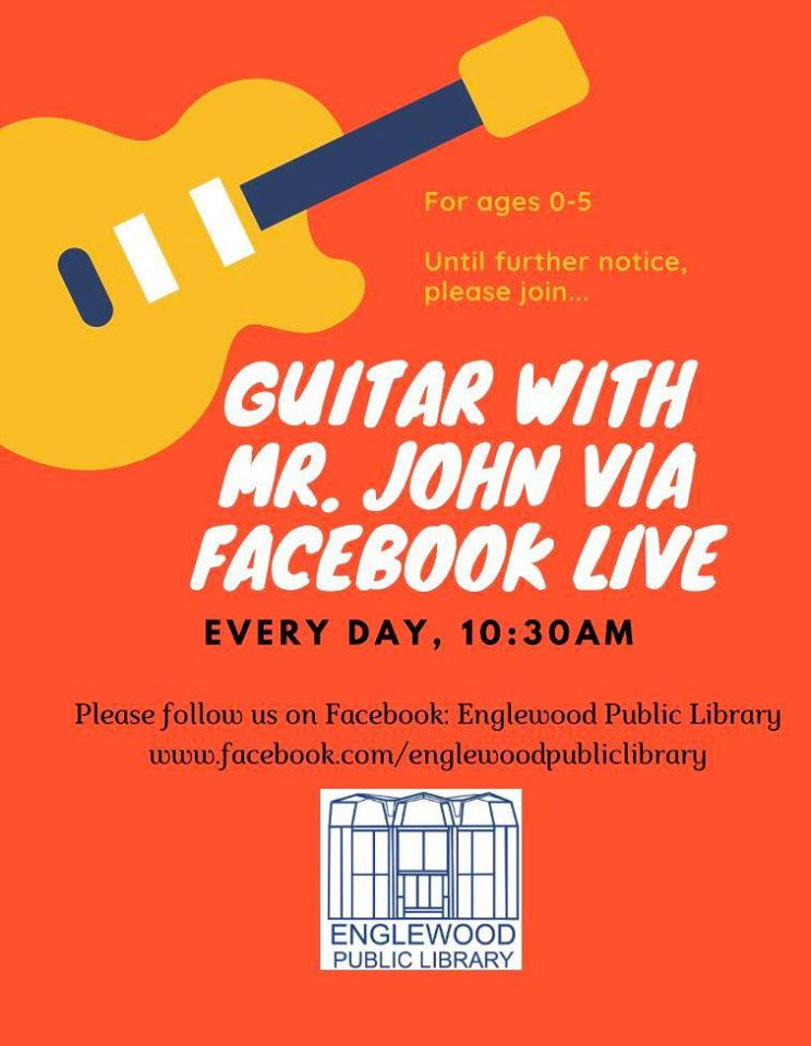 FACEBOOK LIVE! Guitar with Mr. John (Ages 0-5)