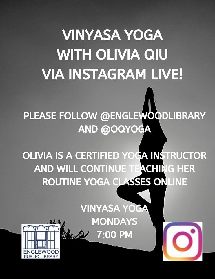 Vinyasa Yoga with Olivia Qiu via Instagram Live