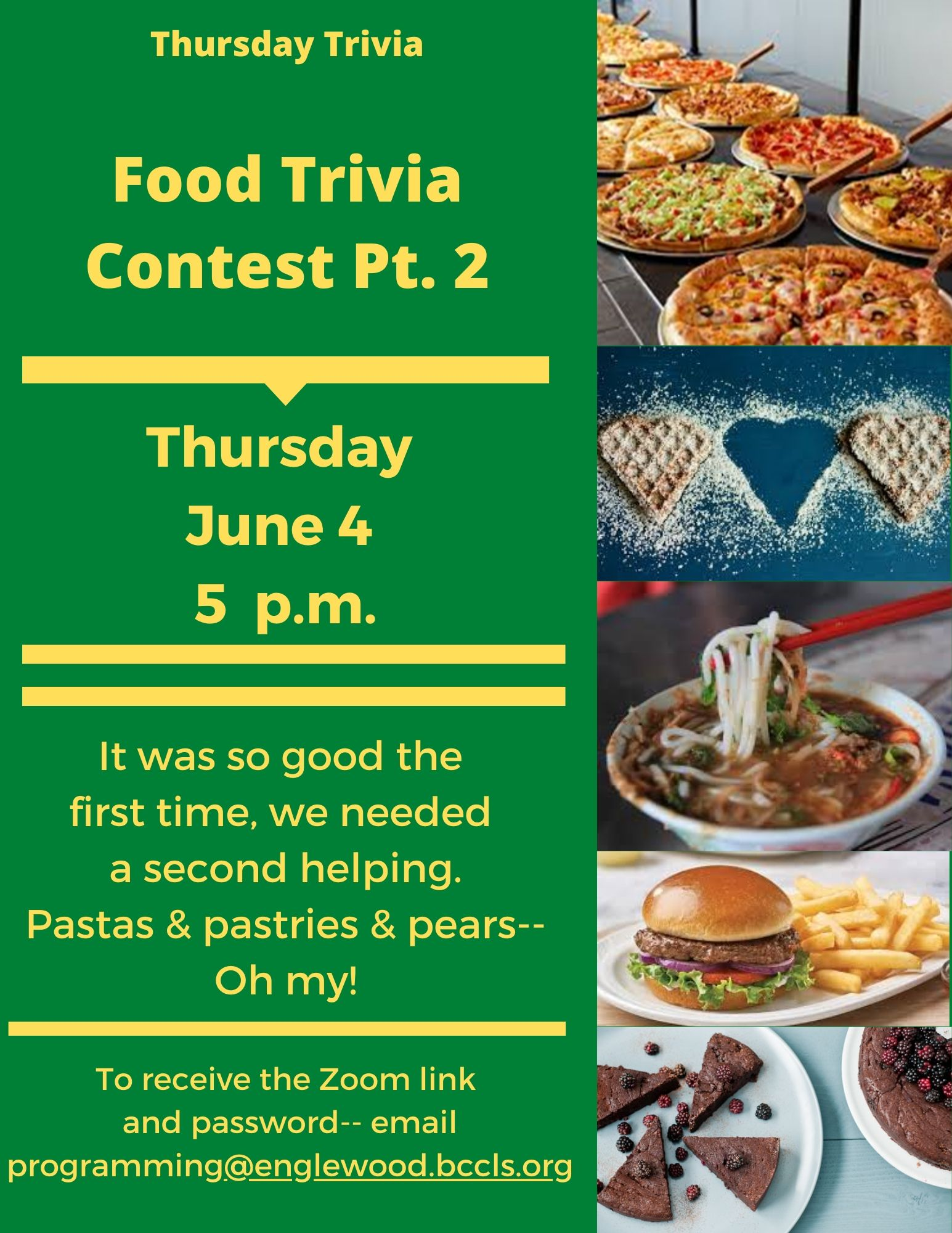 Thursday Trivia via Zoom: Food Pt. 2