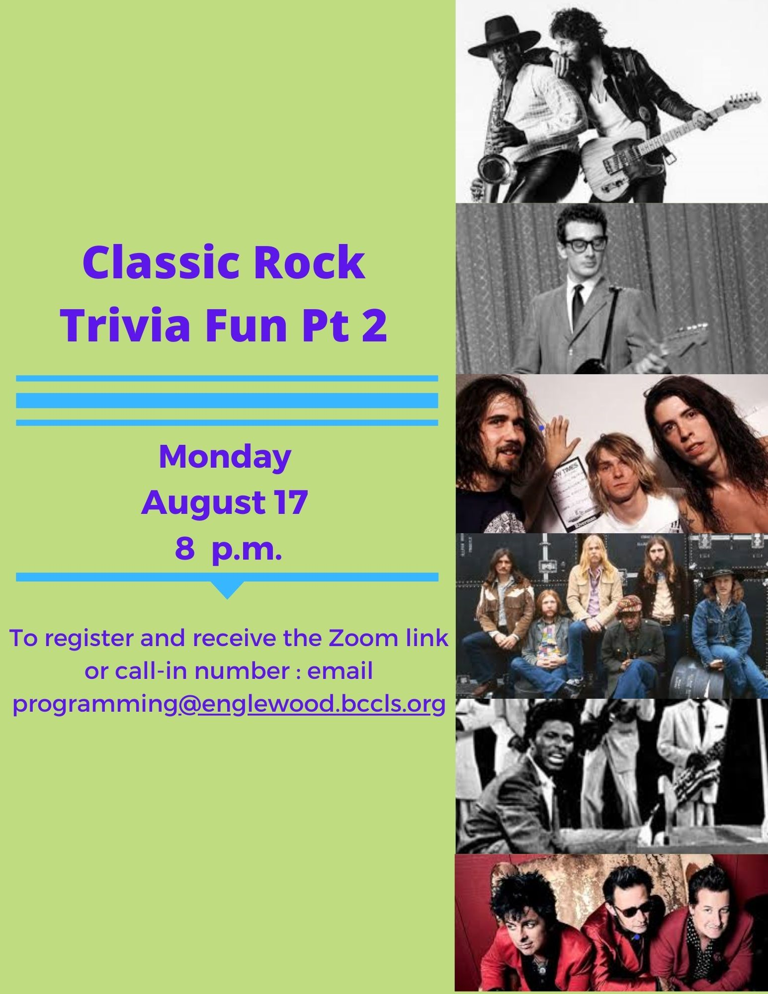 Monday Trivia via Zoom: Classic Rock Pt. 2