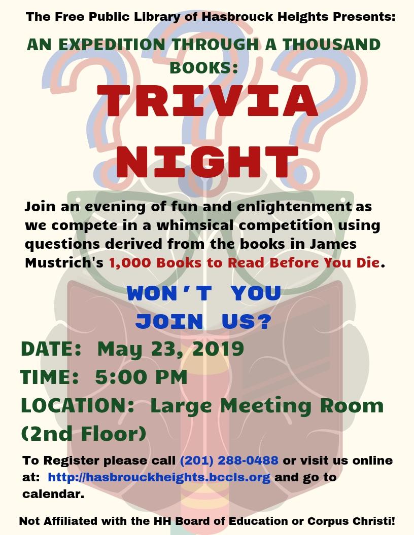 Trivia Night through a Thousand Books.