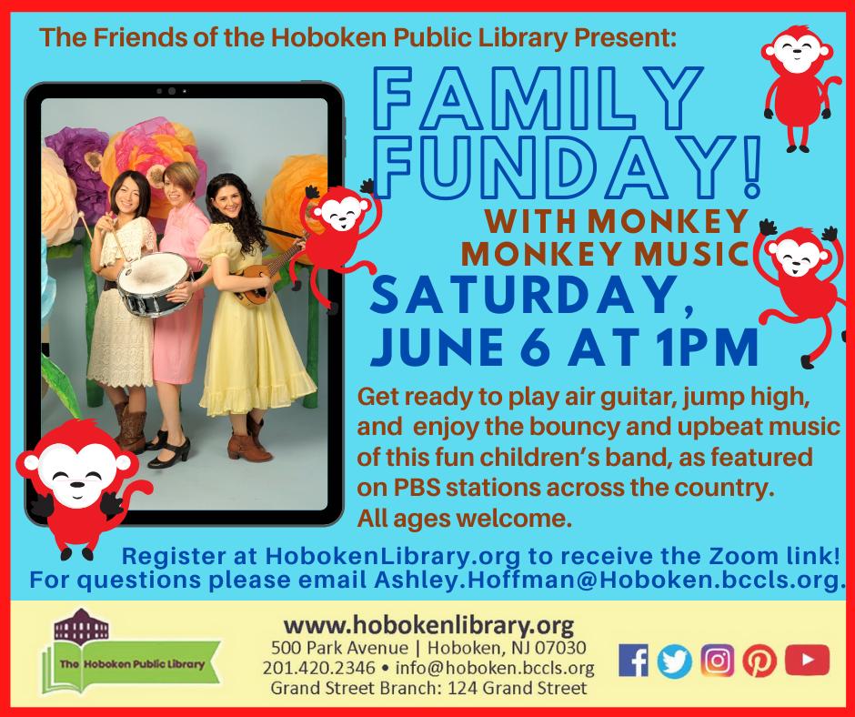 Family FUNDay: Monkey Monkey Music: Live on Zoom!