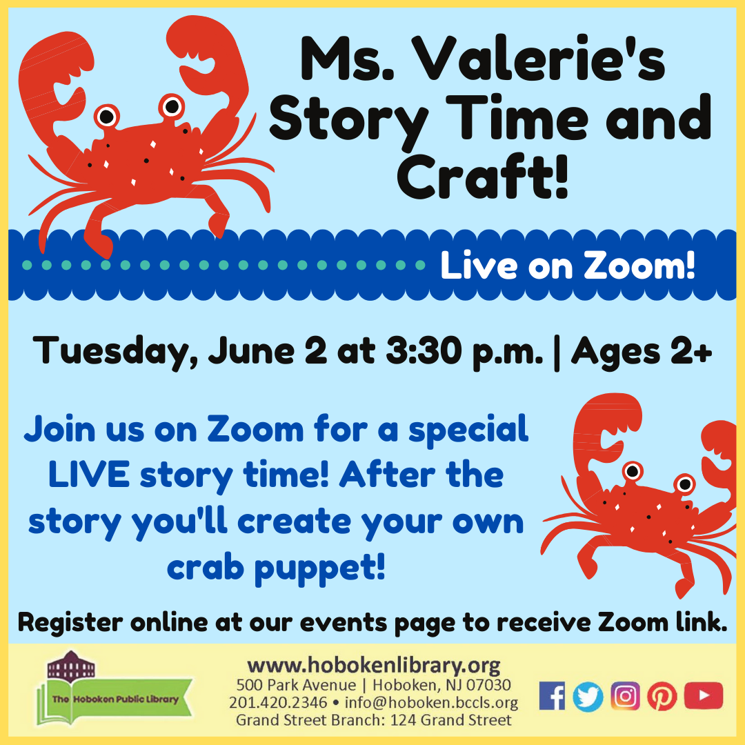 Crab Story Time and Craft: Live on Zoom