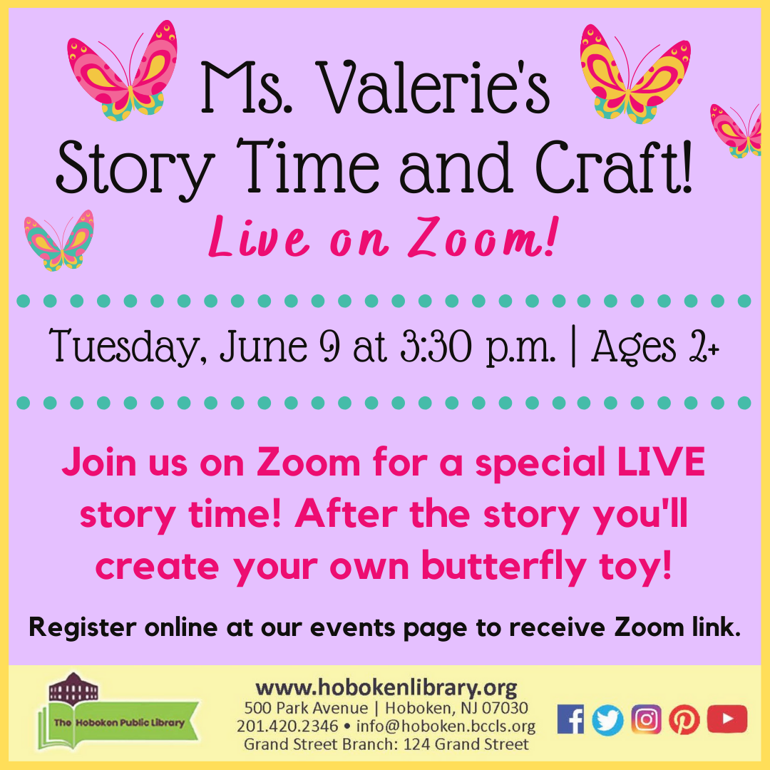 Butterfly Story Time and Craft: Live on Zoom