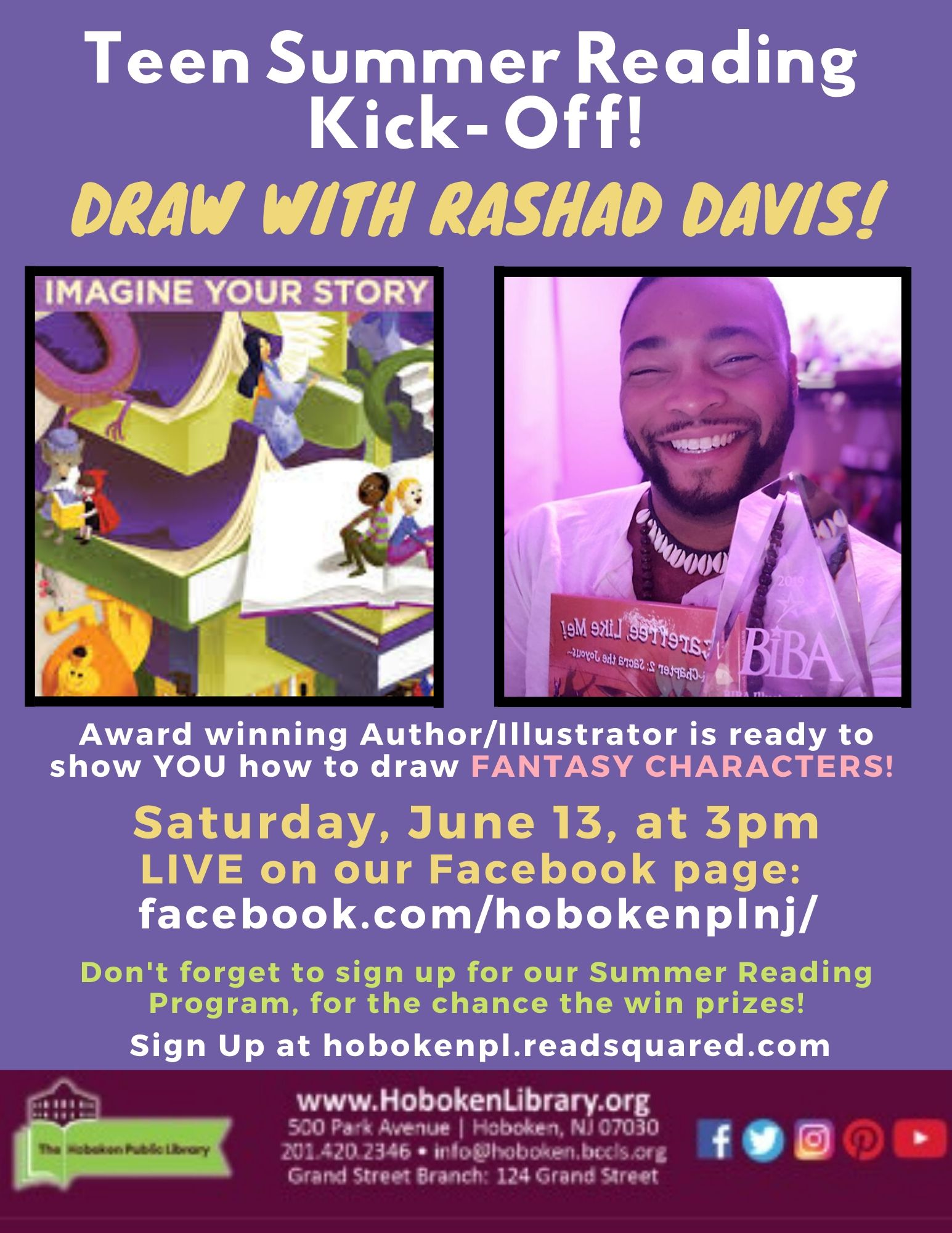Create a Fantasy Character with Rashad Davis - Live on Facebook!