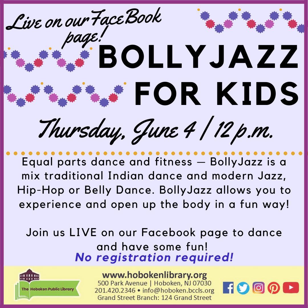BollyJazz (TM) For Kids! Live on FaceBook!