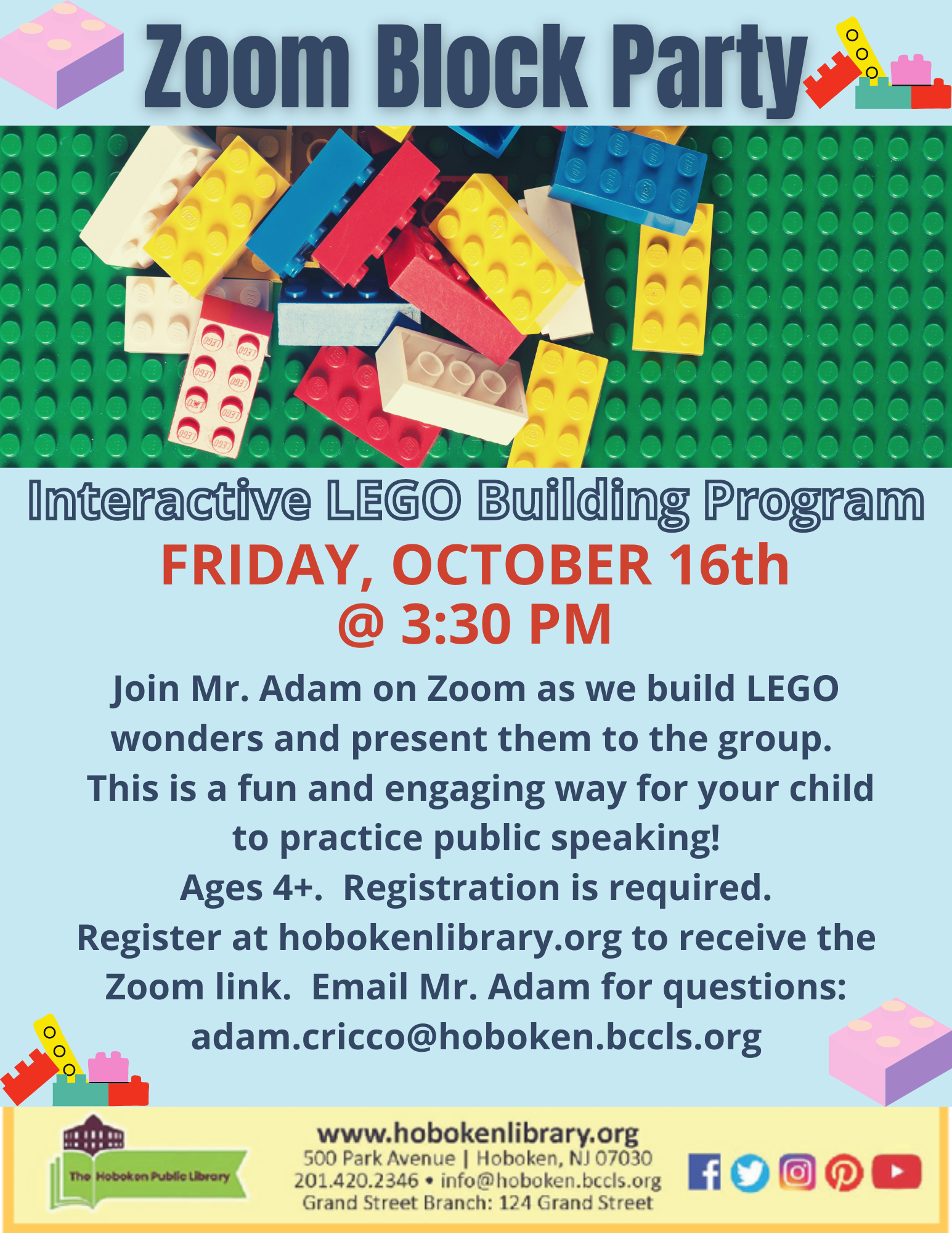 LEGO Block Party! Live on Zoom!
