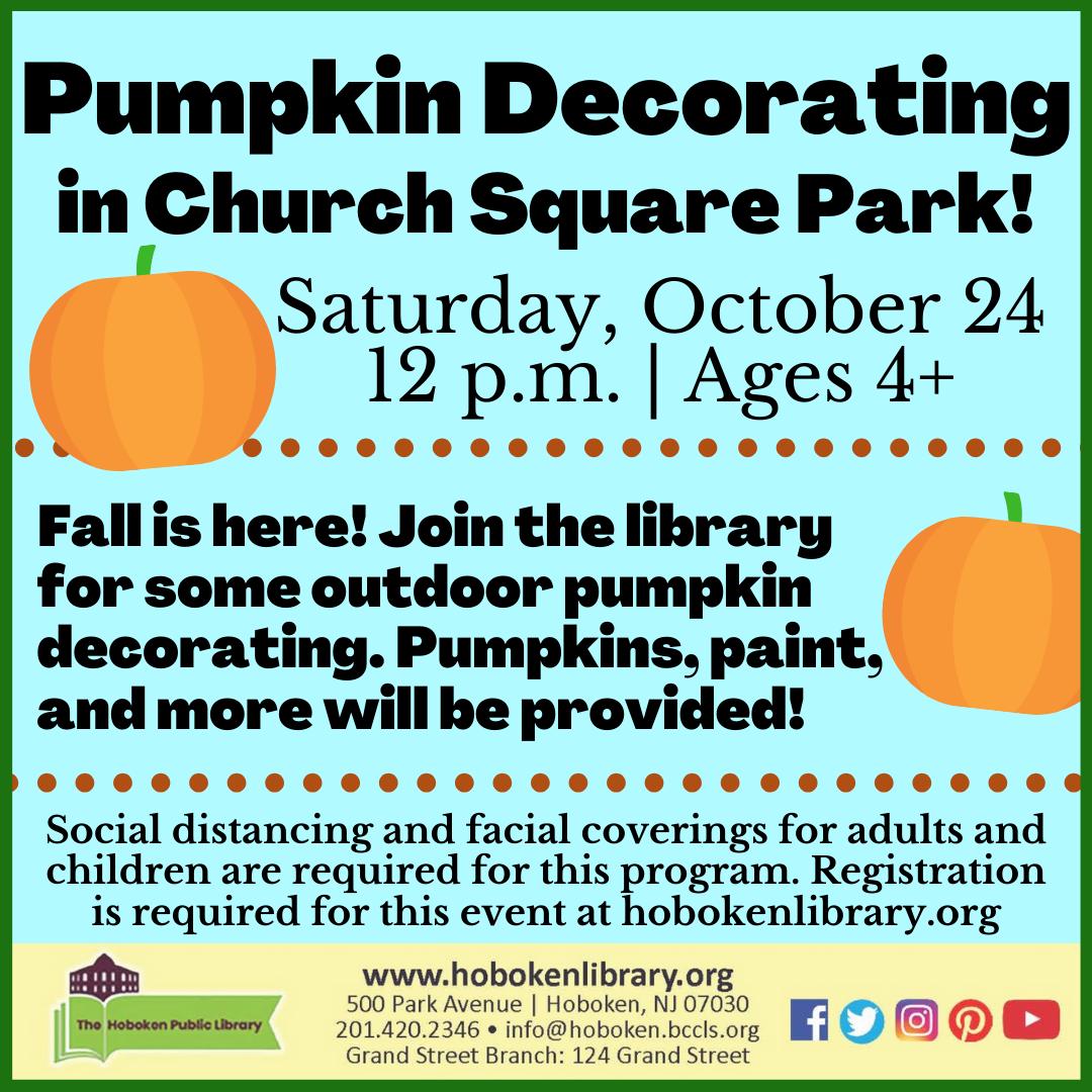 Pumpkin Decorating in Church Square Park!