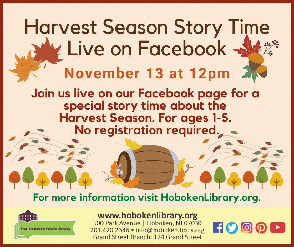 Harvest Season Story Time Live on Facebook!