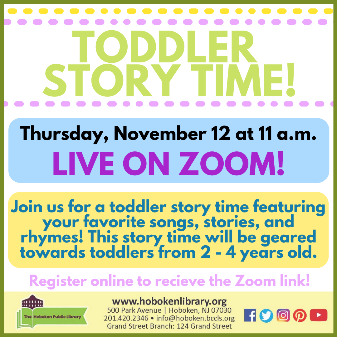 Toddler Story Time - Live on Zoom