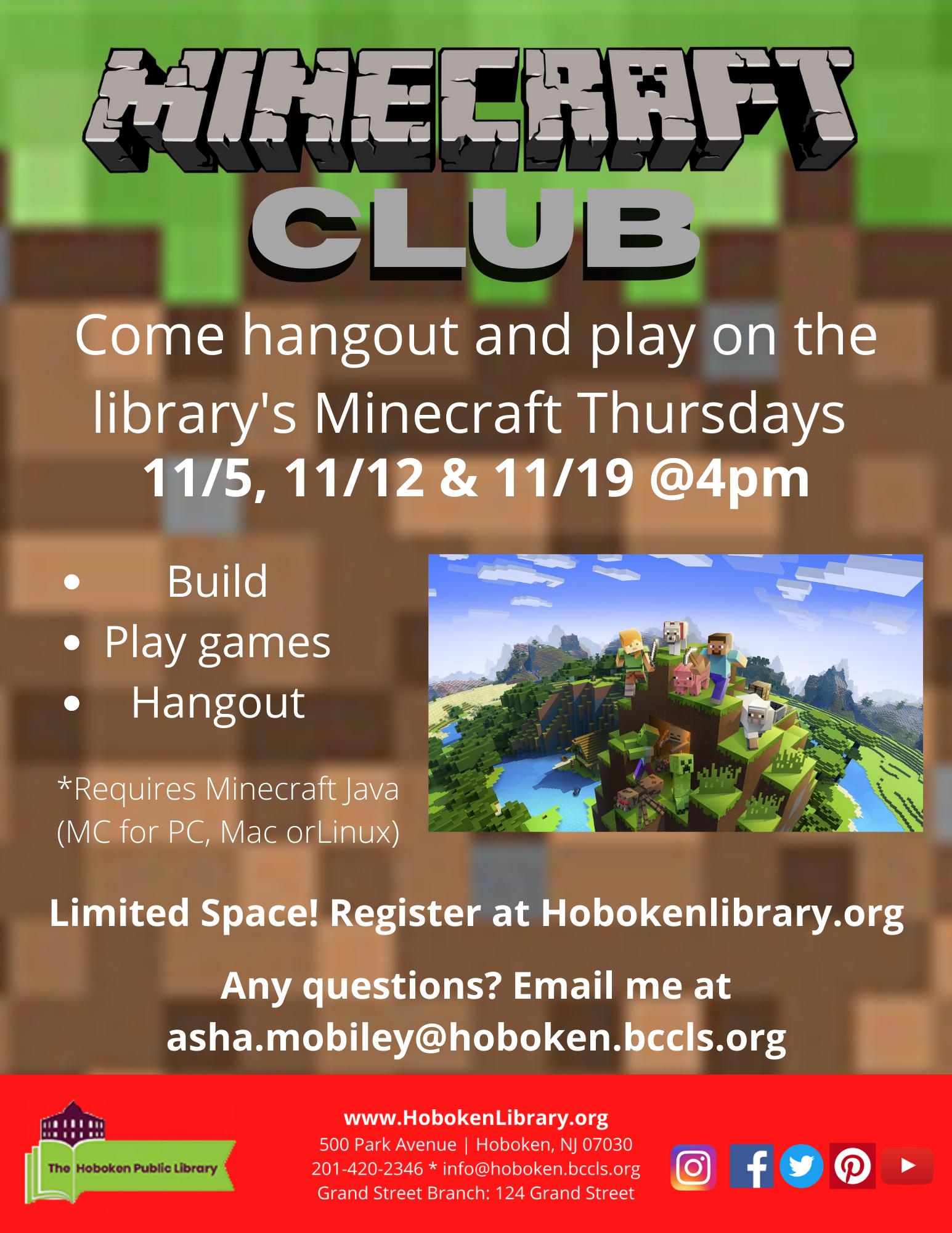 Teen Minecraft Club