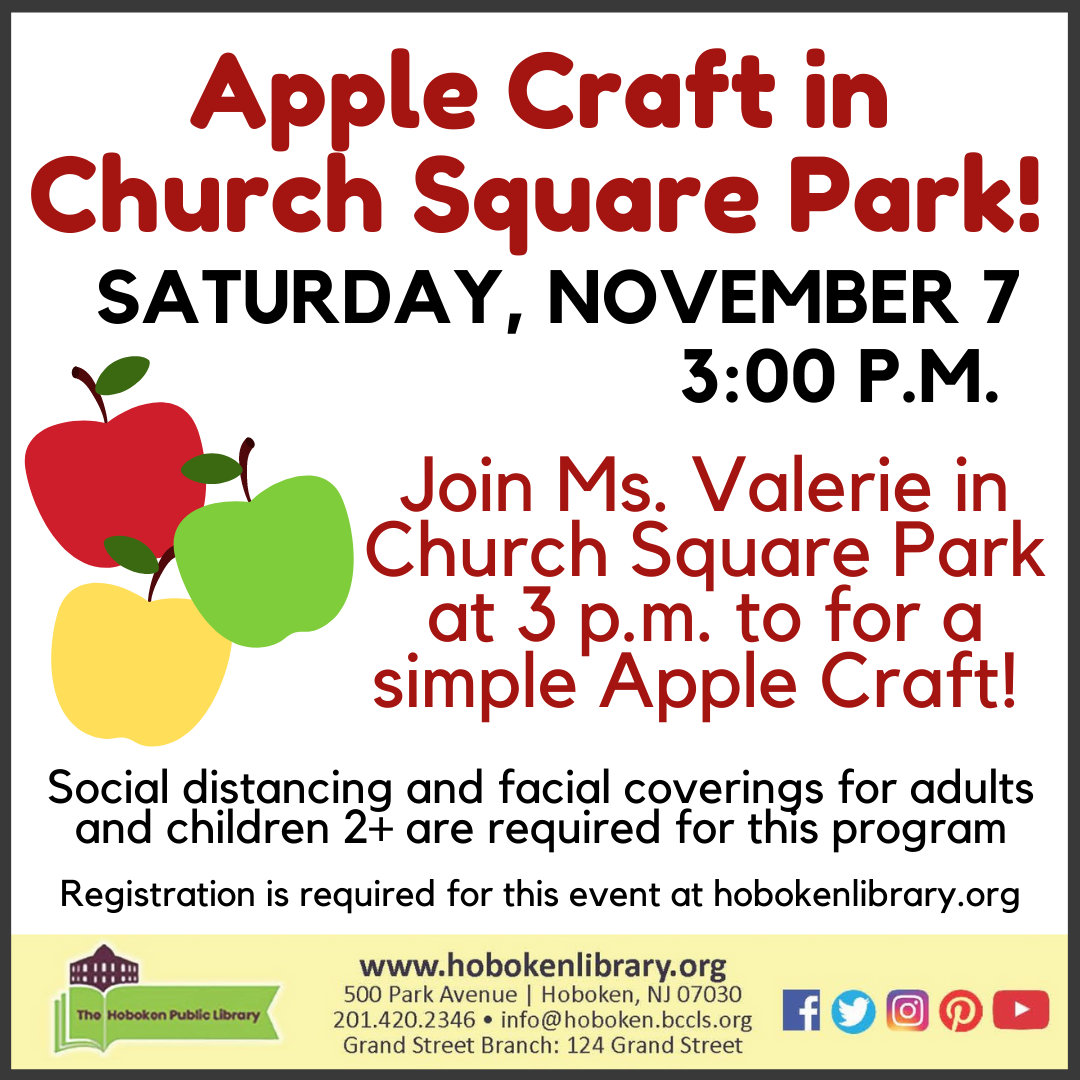 Apple Craft in Church Square Park!