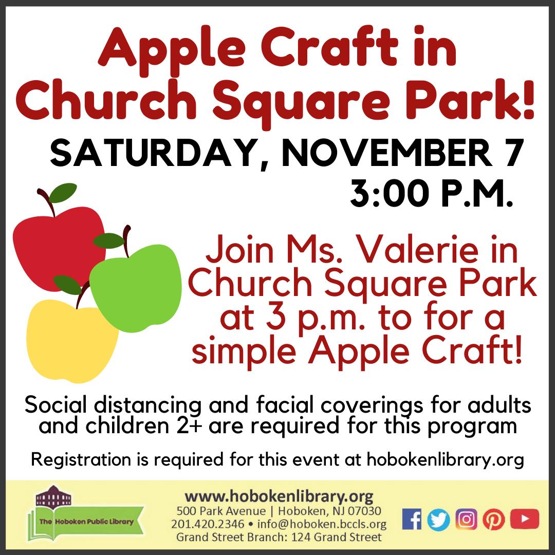 Apple Craft in Church Square Park!