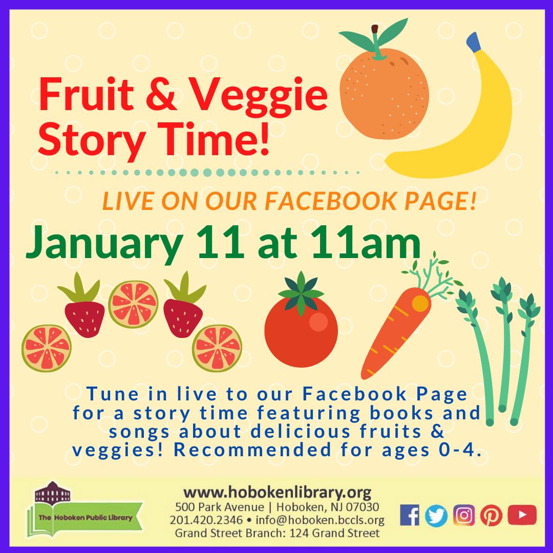 Fruit & Veggie Story Time - Live on Facebook!
