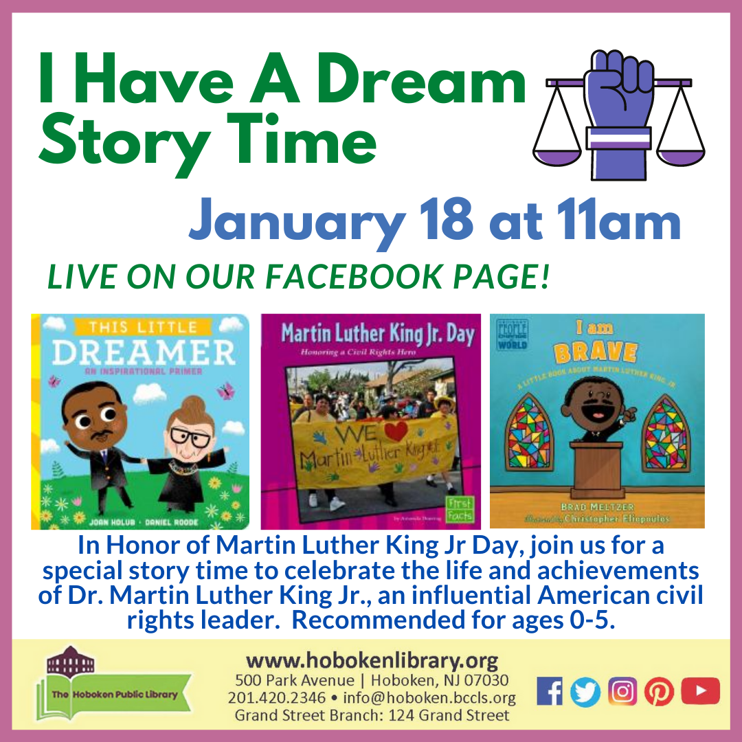 I Have a Dream Story Time - Live on Facebook!