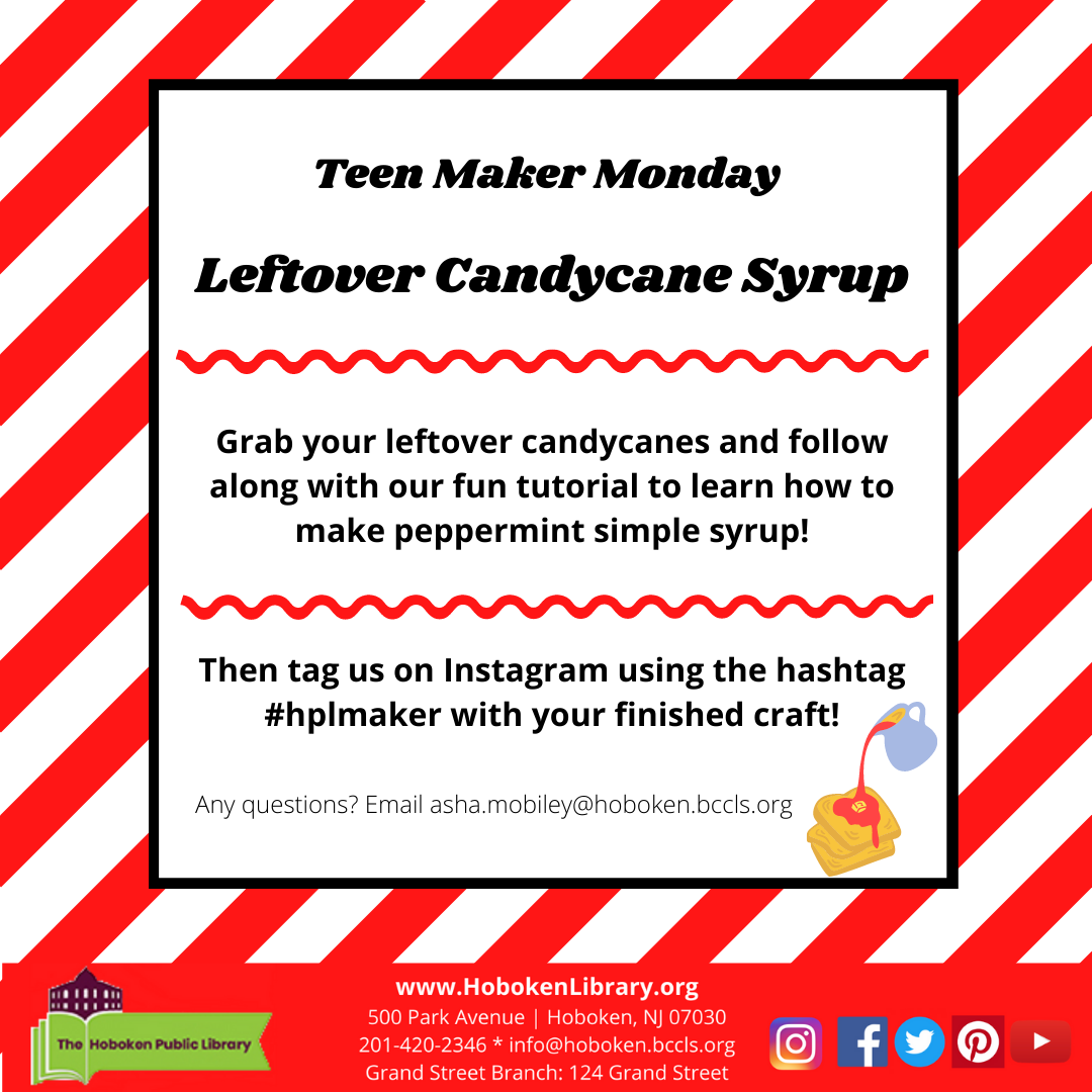 Teen Maker Monday - Leftover Candy Cane Simple Syrup