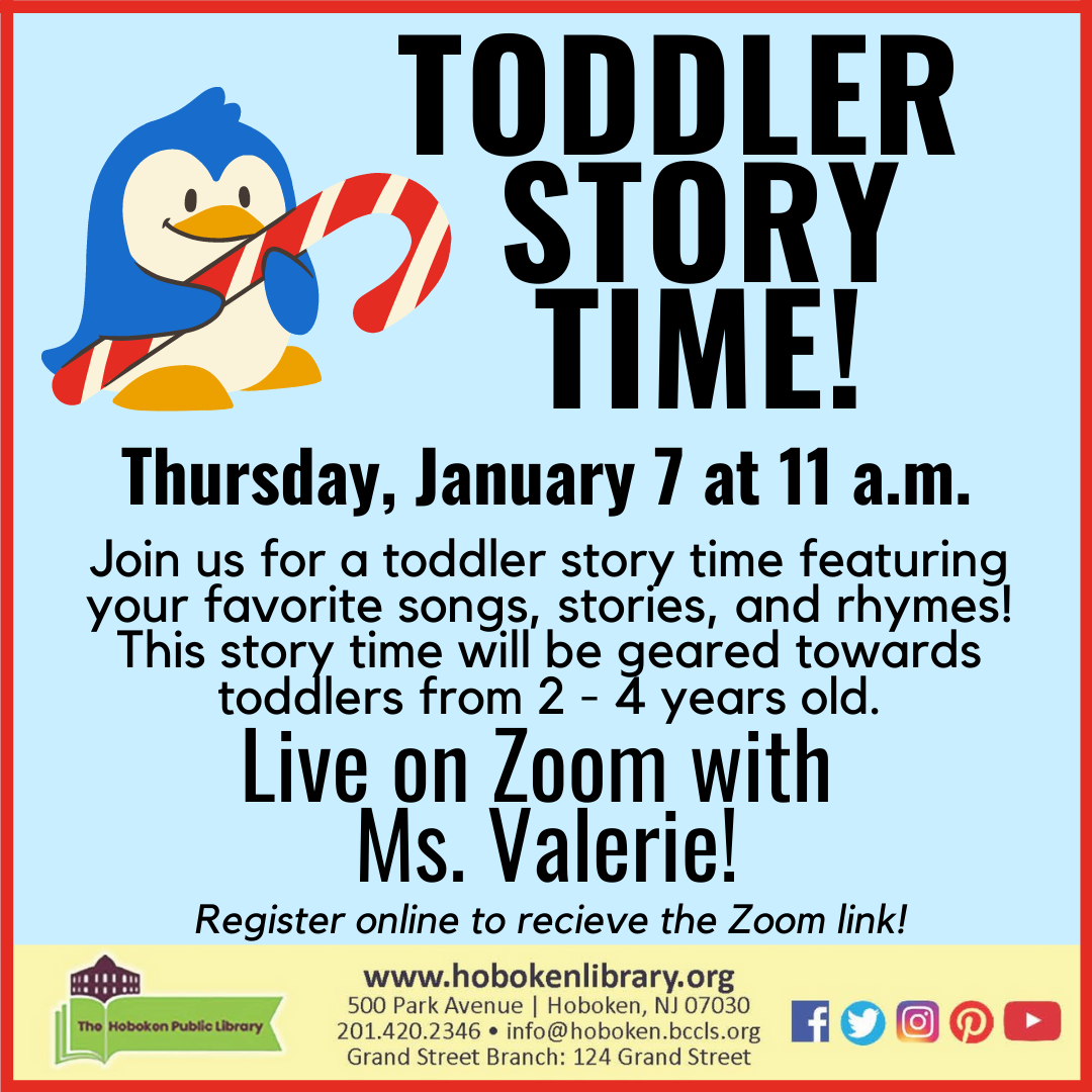 Toddler Story Time - Live on Zoom!