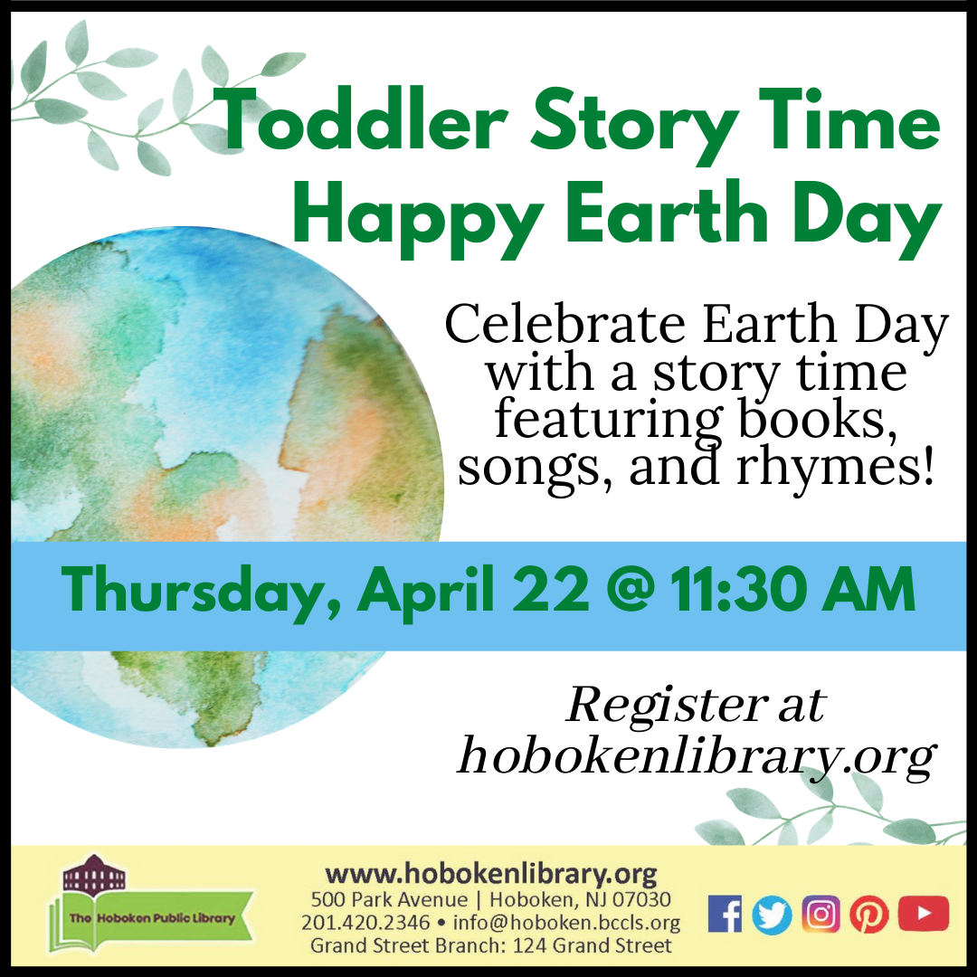 Toddler Story Time Celebrates Earth Day - Live on Zoom!