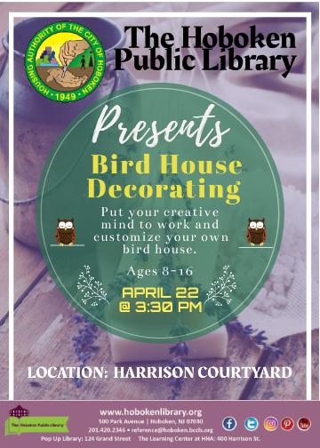 Birdhouse Decorating in Harrison Courtyard