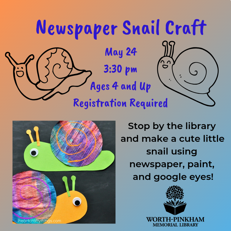 Newspaper Snail Craft