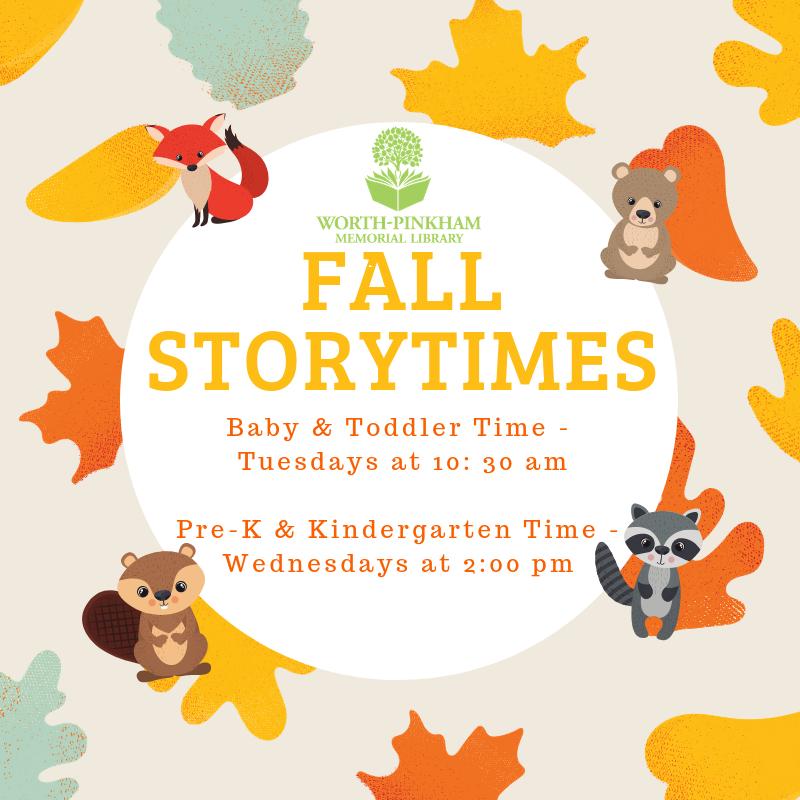 Pre-K/Kindergarten  Storytime
