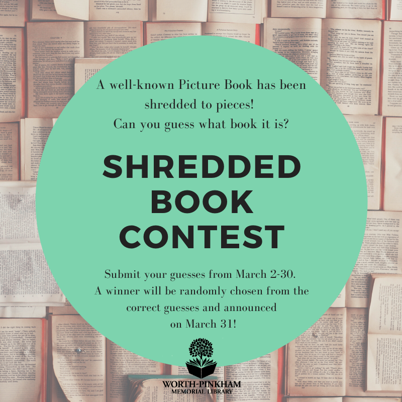 Shredded Book Contest Ends!