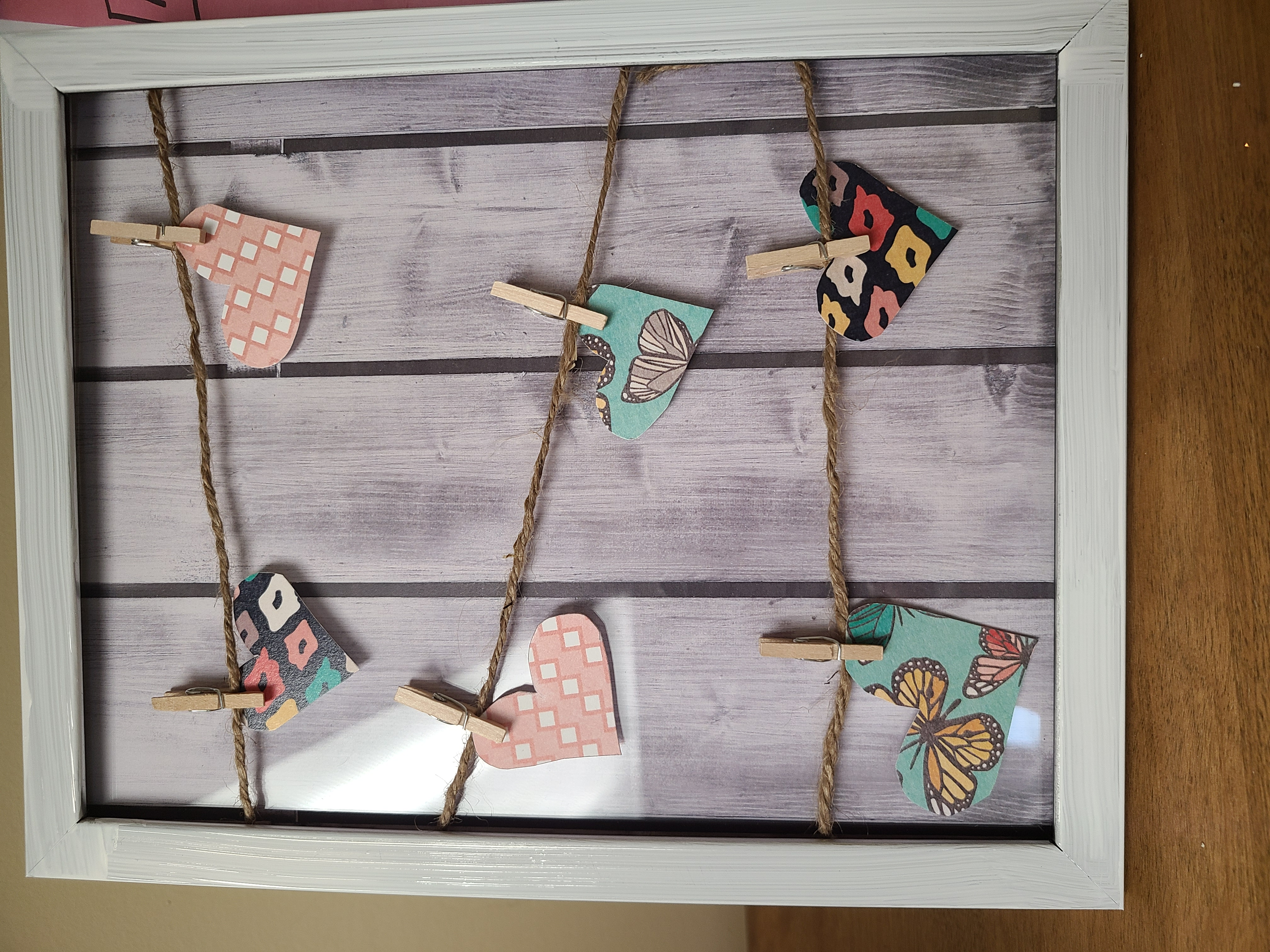 Adult Take Home: Heart Clothespin Decor