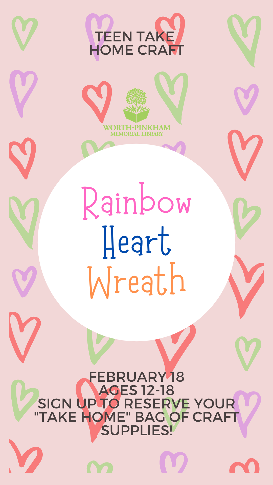 TAKE HOME TEEN Rainbow Hearth Wreath